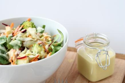 Salade met dressing